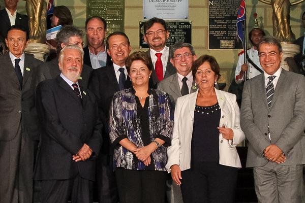 Dilma Rousseff reúne governadores do Nordeste, em Aracaju, e promete liberação de recursos