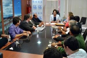 Rosalba em discussão sobre aeroporto mossoroense