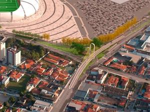Viaduto ficará entre as avenidas Lima e Silva e Prudente de Morais (Foto: Prefeitura de Natal)