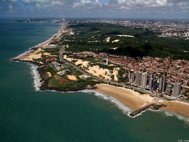 Vista aérea da Praia de Areia Preta, em Natal (Foto: Canindé Soares/Arquivo pessoal)