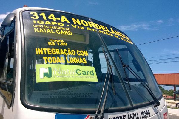 Linhas da Transcoop Natal que fazem integração cobram R$ 1,60. (Foto; Raiane Maynara)