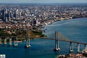 Vista da cidade de Natal e foz do Rio Potengi. (Foto: jaldesmar-costa.blogspot.com)