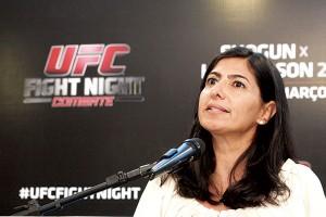 Grace Tourinho, diretora do UFC no Brasil, elogiou Natal. (Foto: Emanuel Amaral)