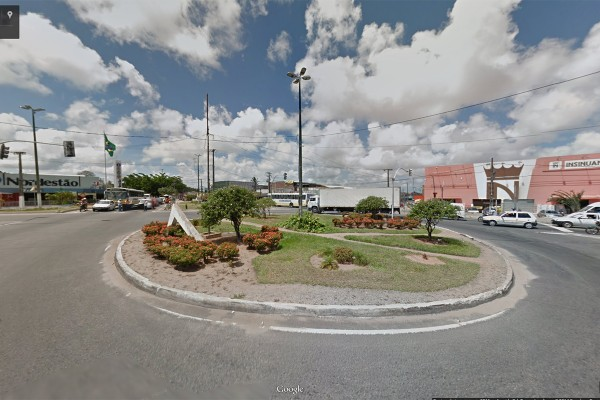 A rotatória será parcialmente bloqueada, no sentido São Gonçalo do Amarante-Ceará Mirim (Foto: Reprodução/Google Street View)