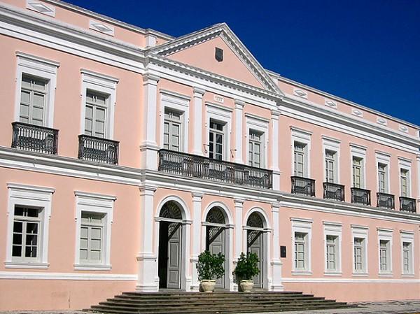 Prédio da Pinacoteca do RN. Projetado de acordo com arquitetura neoclássica. (Foto: Divulgação)