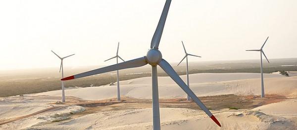 Turbinas do parque eólico de Rio do Fogo. (Foto:sustentabilidade.allianz.com.br)