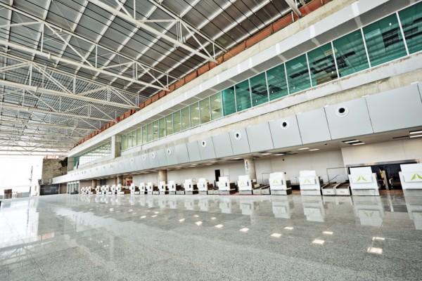Saguão aeroporto Aluízio Alves em São Gonçalo do Amarante. (Foto: www.copa2014.gov.br)