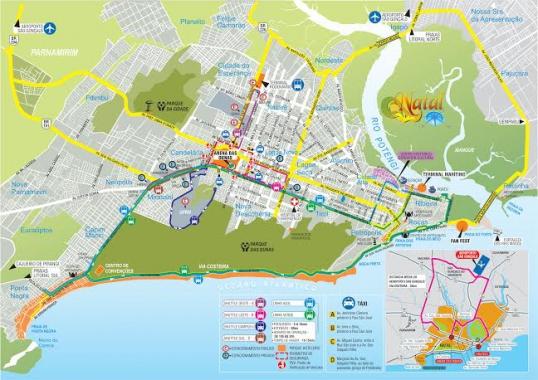 Detalhe do mapa de orientação para turistas. (Foto: divulgação)