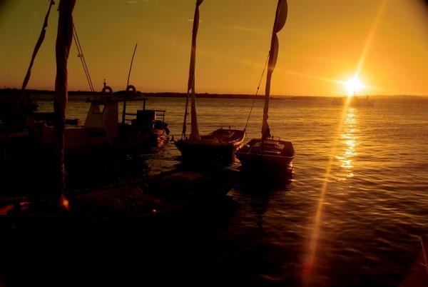 Por do sol no Rio Potengi. (Foto: turismocristinaliranatal.blogspot.com)