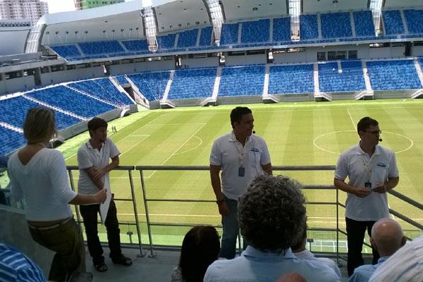 Os visitantes vão poder conhecer o interior da Arena das Dunas. (Foto; Vicente Estevam)