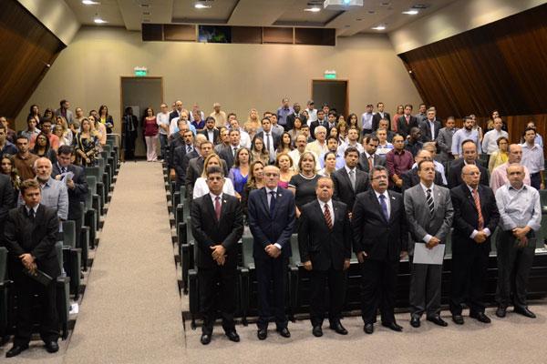 Solenidade para inauguração da Câmara reuniu representantes dos setores empresarial e jurídico. (Foto: Junior Santos)