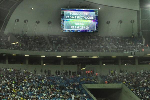 ABC e Vasco contaram com 27.044 torcedores na Arena das Dunas (Foto: Wellington Rocha)