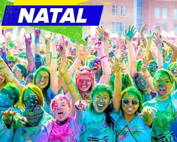Com o conceito de promover a saúde como algo divertido, na Run or Dye você se torna parte do arco-íris. (Foto: divulgação)
