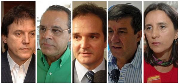Robinson Farias, Henrique Alves, Araken Farias, Robério Paulino e Simone Dutra. (Foto: nominuto.com)