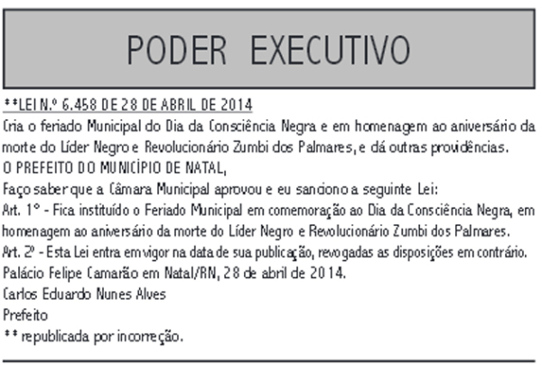 Reprodução: Diário Oficial do Município