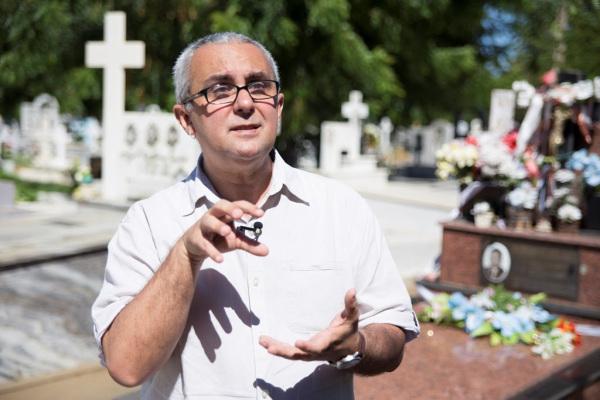 Professor Lourival Andrade Júnior já esteve em todos os cemitérios do Seridó.