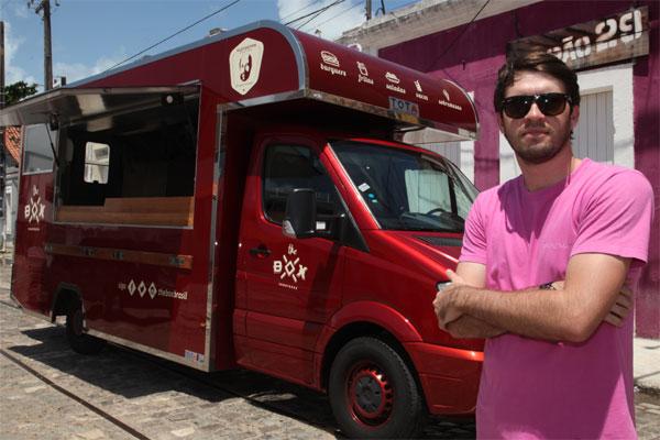 Pedro Gurgel: 'Food truck' é aposta no ramo de alimentação. (Foto: Humberto Sales)