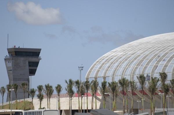 Aeroporto Internacional Aluízio Alves, em São Gonçalo do Amarante, ficou em 12º lugar no ranking geral de qualidade aeroportuária da Secretaria de Aviação Civil (SAC). (Foto: Novo Jornal)