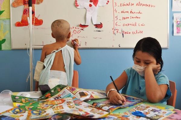 Classe Hospitalar do Hospital Infantil Varela Santiago funciona no Centro de Oncologia. (Foto: Argemiro Lima)