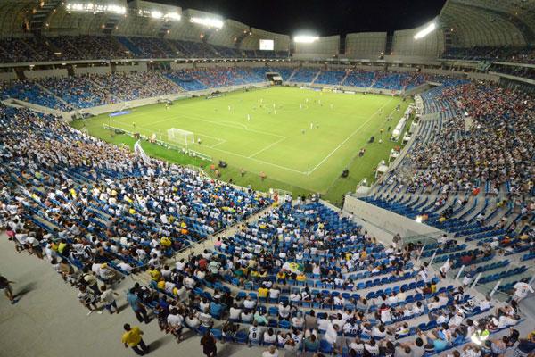 Área interna da Arena das Dunas. (Foto: tribunadonorte.com.br)