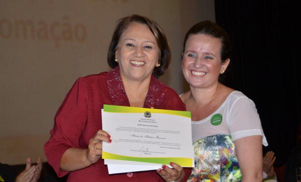 """""""Eu sou eternamente grata ao povo do Rio Grande do Norte"""", garantiu Fátima. (Foto: Divulgação/Assessoria)"""