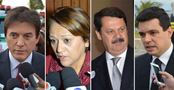 Robinson Faria, Fátima Bezerra, Walter Alves e Ricardo Motta falaram de sonhos e objetivos. (Foto: Artur Melo/Nominuto.com)