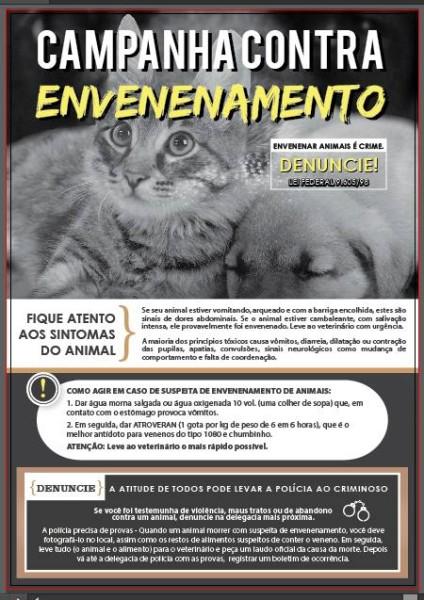 cartaz campanha envenenamento