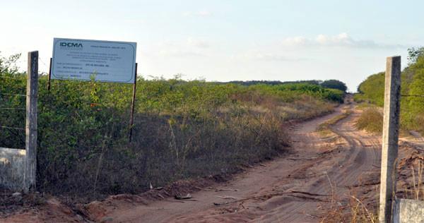 Área que deveria abrigar a ZPE de Macaíba: Concessionária deveria ter feito a infraestrutura para a instalação de até 40 empresas. (Foto: Joana Lima)