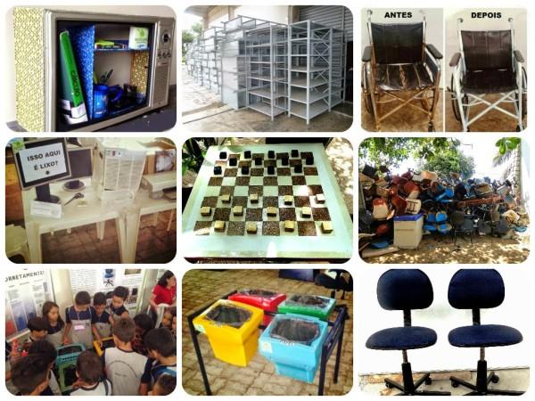 """Projeto """"Reutilizar é bem melhor"""" incentiva reaproveitamento de utensílios antigos. (Foto: Vinícius Magnata)"""