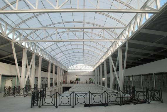 Vista interna do prédio. (Foto: Marco Polo)