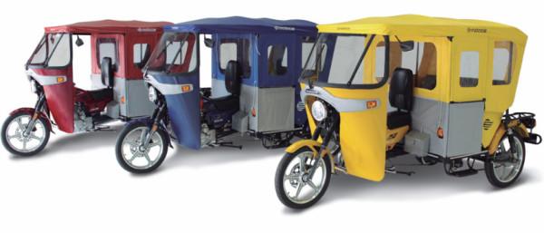 """Triciclos conhecidos como """"Tuk-tuks"""" são homologados pelo Denatran e Ibama. Podem servir para transporte de passageiros e carga. (Foto: Divulgação)"""