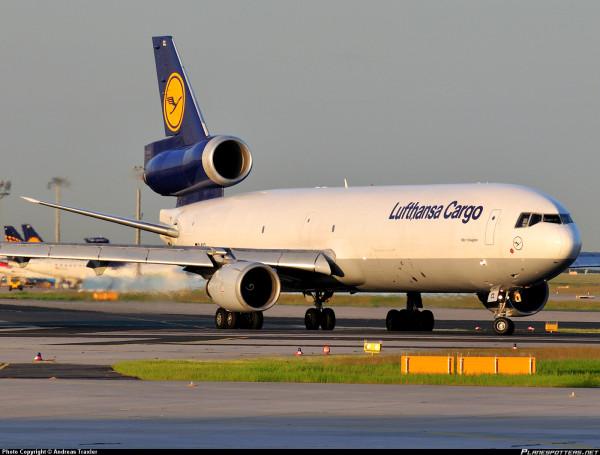 Avião do tipo cargueiro pertencente a empresa Lufthansa cargo. (Foto: www.planespotters.net)